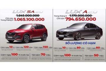 Ưu đãi giảm giá xe ô tô Vinfast trong tháng 09/2020 ở Vinfast Bắc Ninh
